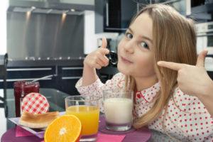 colazione per bambino